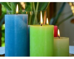 Восковые свечи и формы из силикона